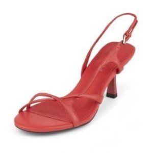 Jeffrey Campbell Parasite Heeled Sandal in Red 6